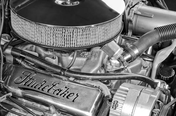 Photograph - 1953 Studebaker Champion Starliner Engine by Jill Reger