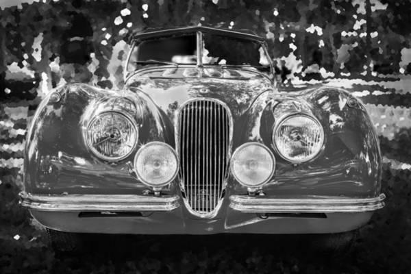 Photograph - 1954 Jaguar Xk 120 Se Ots Bw by Rich Franco