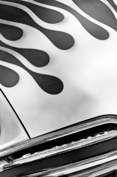 Photograph - 1954 Studebaker Champion Coupe Hot Rod Grille Emblem by Jill Reger