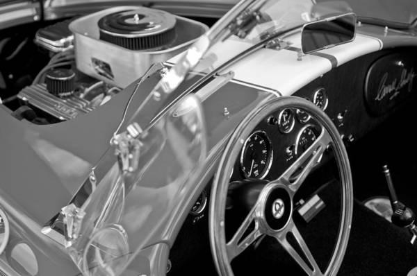 Ac Cobra Wall Art - Photograph - 1955 Ac Cobra Steering Wheel And Engine by Jill Reger