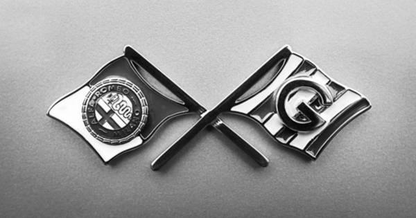 Photograph - 1955 Alfa Romeo 1900 Css Ghia Aigle Cabriolet Emblem by Jill Reger
