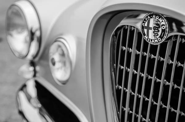 Photograph - 1955 Alfa Romeo 1900 Css Ghia Aigle Cabriolet Grille Emblem by Jill Reger