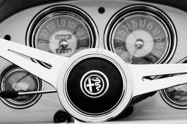 Photograph - 1955 Alfa-romeo 1900 Css Ghia Aigle Cabriolet Steering Wheel by Jill Reger
