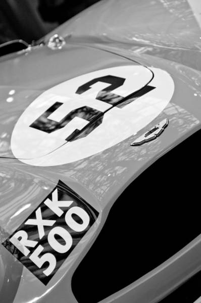 Photograph - 1955 Aston Martin Db3s Sports Racing Car Hood by Jill Reger