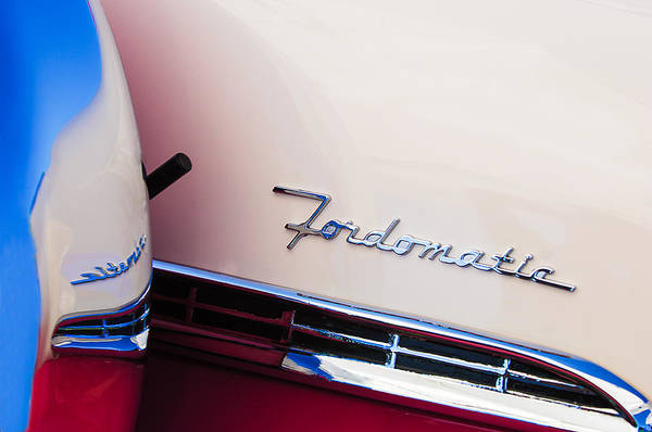 Photograph - 1955 Ford Crown Victoria Fordomatic Emblem by Jill Reger