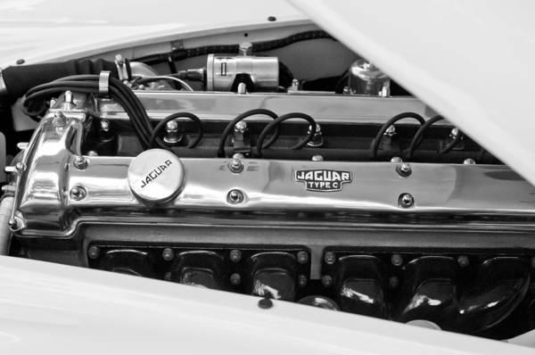 Photograph - 1955 Jaguar Engine by Jill Reger