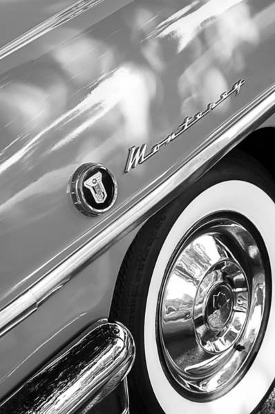 Photograph - 1955 Mercury Monterey Wheel Emblem by Jill Reger