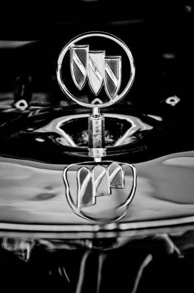 Hood Ornament Photograph - 1956 Buick Special Hood Ornament by Jill Reger