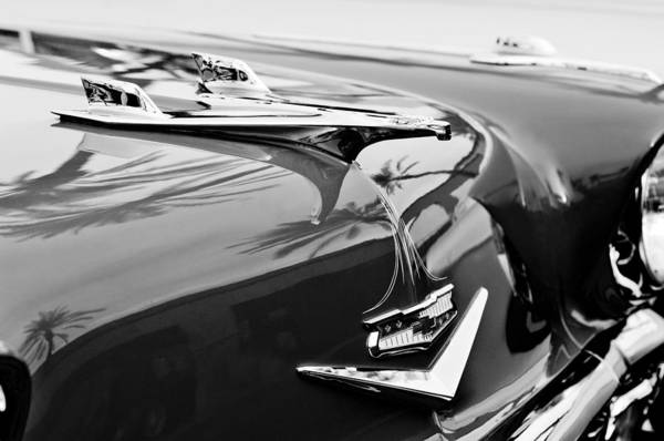 Nomad Photograph - 1956 Chevrolet Belair Nomad Hood Ornament by Jill Reger