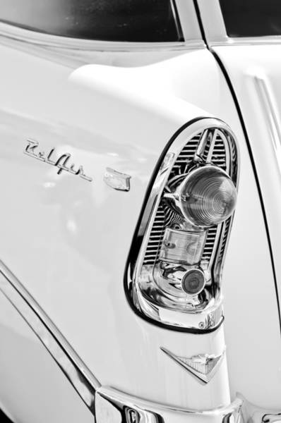 Nomad Photograph - 1956 Chevrolet Beliar Nomad Taillight Emblem by Jill Reger