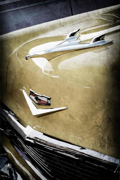 1956 Chevy Wall Art - Photograph - 1956 Chevrolet Hood Ornament - Emblem by Jill Reger