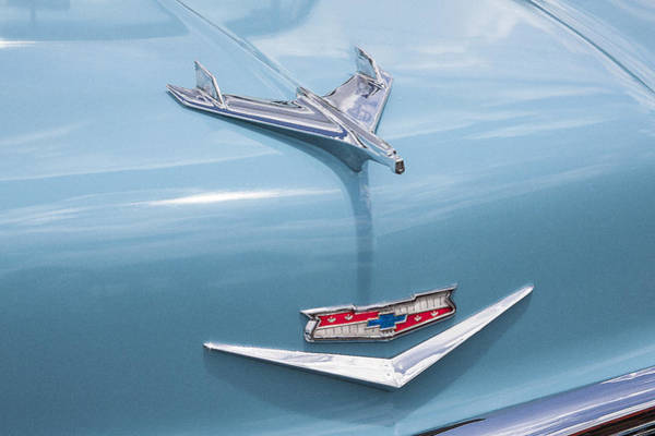 Photograph - 1956 Chevrolet Hood Ornament by Rich Franco