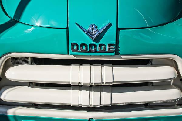 Photograph - 1956 Dodge Pickup Truck Grille Emblem by Jill Reger