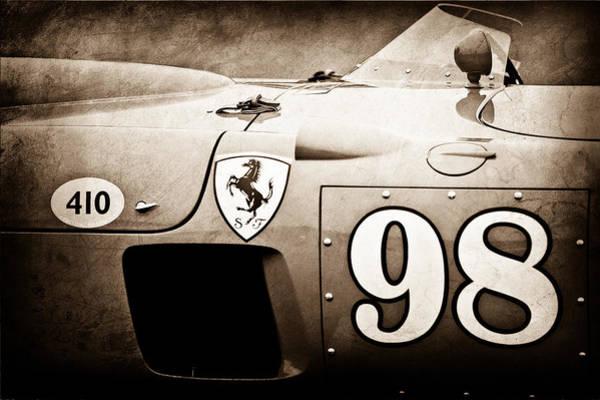 Vintage Ferrari Photograph - 1956 Ferrari 410 Sport Scaglietti Spyder by Jill Reger