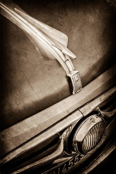 Photograph - 1956 Fiat 600 Elaborata Hood Ornament by Jill Reger