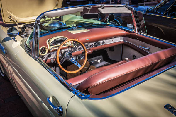 1956 Ford Thunderbird Photograph - 1956 Ford Thunderbird Painted  by Rich Franco