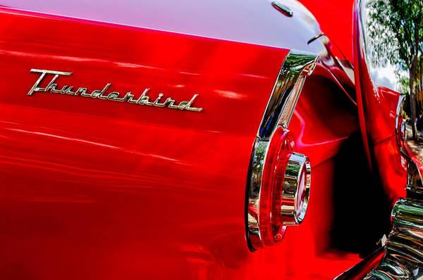 1956 Ford Thunderbird Photograph - 1956 Ford Thunderbird Taillight Emblem by Jill Reger