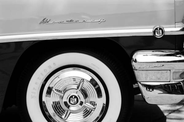 Photograph - 1956 Mercury Monterey 2-door Hardtop Wheel Emblems by Jill Reger