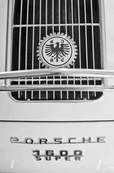 Photograph - 1956 Porsche 1600 Super Emblem by Jill Reger
