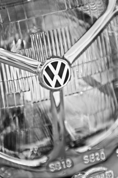 Volkswagen Photograph - 1956 Volkswagen Vw Bug Head Light by Jill Reger