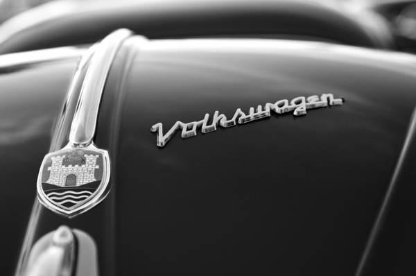 Photograph - 1956 Volkswagen Vw Bug Hood Emblem by Jill Reger