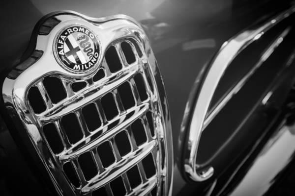 Photograph - 1957 Alfa-romeo 1900c Super Sprint Grille Emblem by Jill Reger