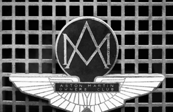 Photograph - 1957 Aston Martin Owner's Club Emblem by Jill Reger