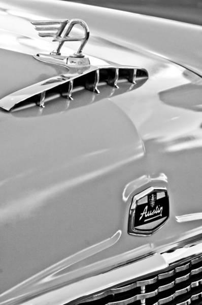 Photograph - 1957 Austin Cambrian 4 Door Saloon Hood Ornament And Emblem by Jill Reger