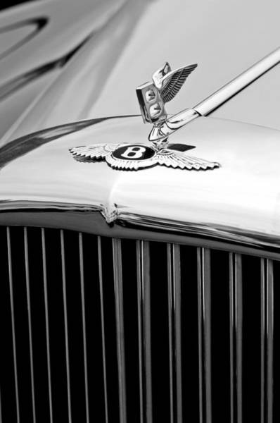 Photograph - 1957 Bentley S-type Hood Ornament And Emblem by Jill Reger