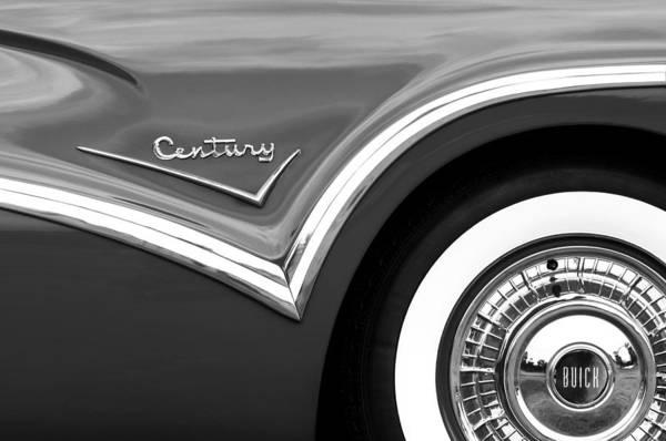 Photograph - 1957 Buick Century Convertible Wheel Emblem by Jill Reger