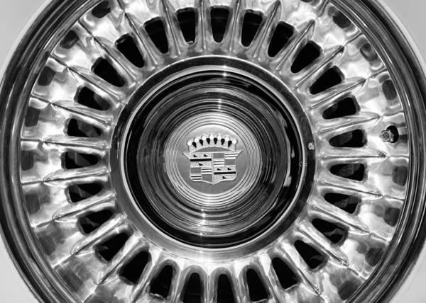 Eldorado Photograph - 1957 Cadillac Eldorado Biarritz Convertible Wheel Emblem by Jill Reger