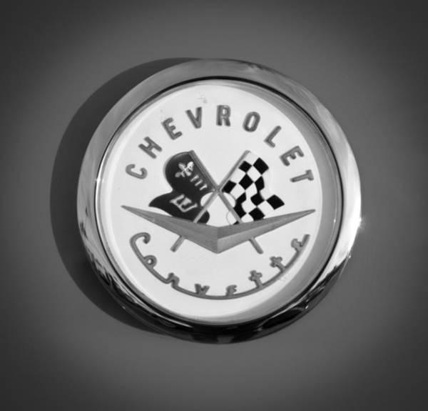 Photograph - 1957 Chevrolet Corvette Emblem by Jill Reger