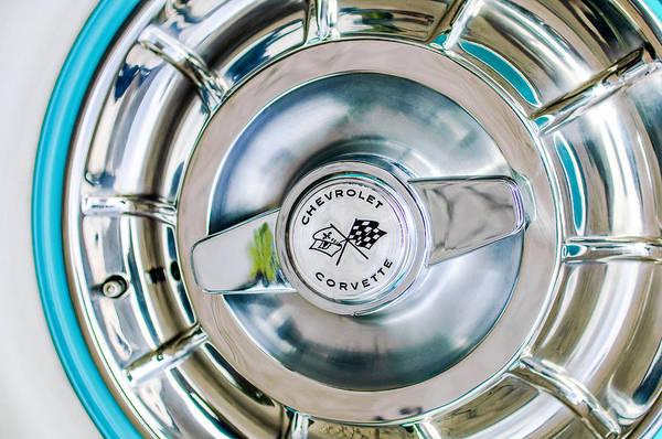 1957 Chevrolet Photograph - 1957 Chevrolet Corvette Wheel Emblem by Jill Reger