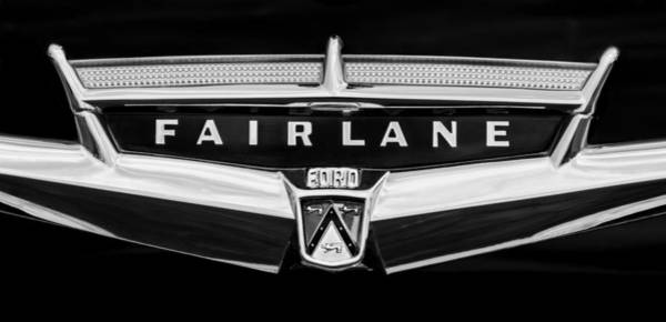 Ford Fairlane Photograph - 1957 Ford Fairlane Convertible Emblem by Jill Reger