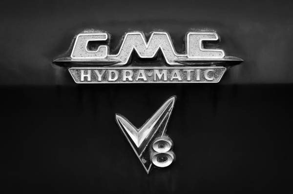 Photograph - 1957 Gmc Hydra-matic V8 Emblem by Jill Reger