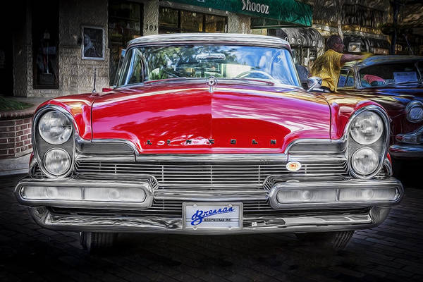 Photograph - 1957 Lincoln Premiere Coupe Painted  by Rich Franco