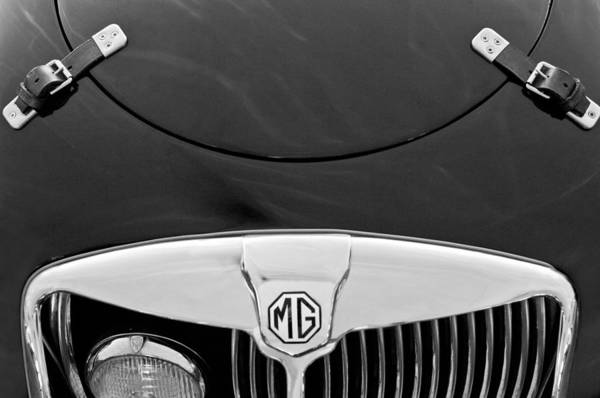 Mg Photograph - 1957 Mg Mga Ex182 Tribute Grille Emblem by Jill Reger