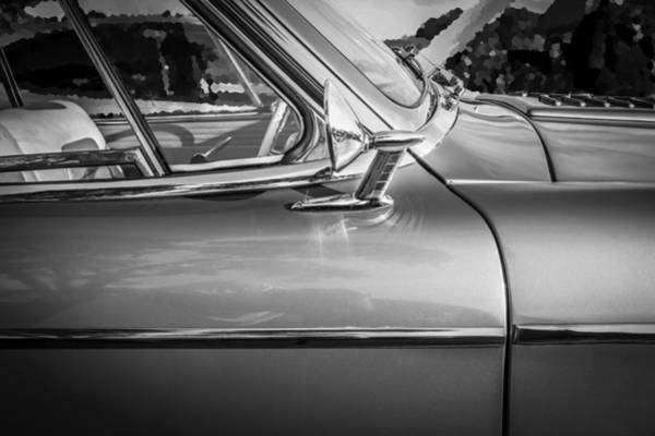 Photograph - 1957 Studebaker Golden Hawk Bw  by Rich Franco