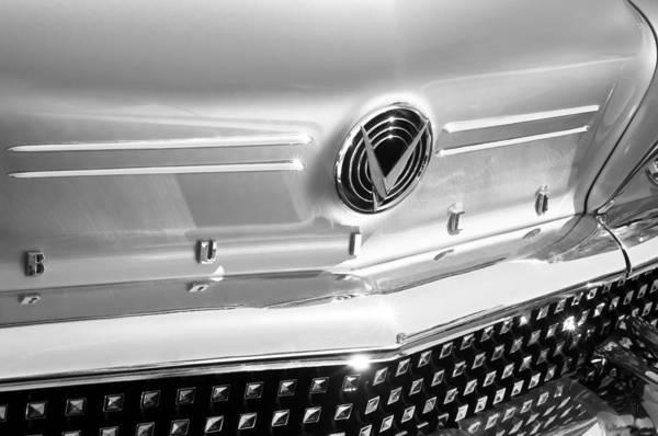 Photograph - 1958 Buick Roadmaster 75 Convertible Grille Emblem by Jill Reger