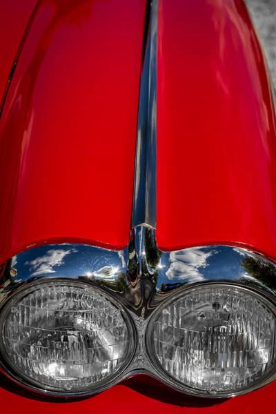 Photograph - 1958 Chevrolet Corvette Headlights by Ron Pate