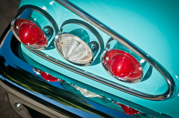 Photograph - 1958 Chevrolet Impala Taillight -0289c by Jill Reger