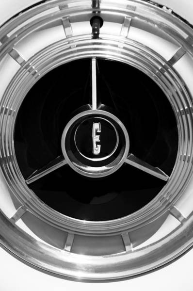 Photograph - 1958 Edsel Pacer Convertible Wheel Emblem by Jill Reger