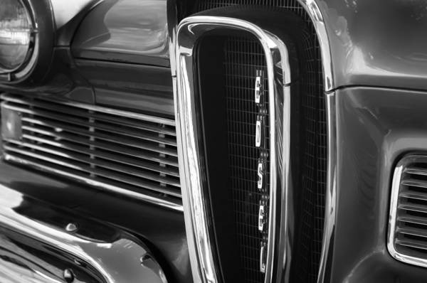 Edsel Photograph - 1958 Edsel Pacer Grille by Jill Reger