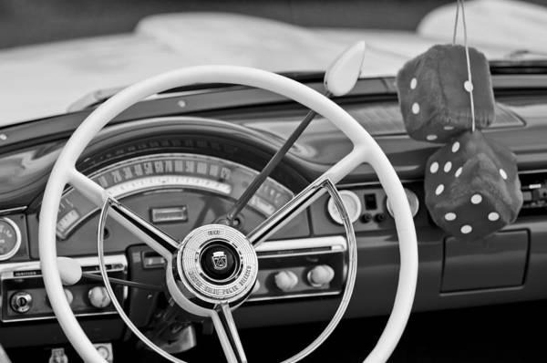 Ford Fairlane Photograph - 1958 Ford Fairlane Steering Wheel by Jill Reger