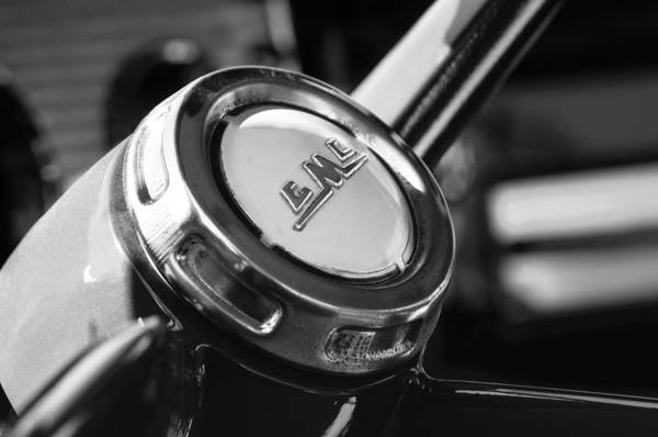 Photograph - 1958 Gmc Suburban Steering Wheel Emblem by Jill Reger