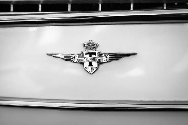 Photograph - 1958 Maserati 3500 Gt Berlinetta By Touring  Emblem by Jill Reger