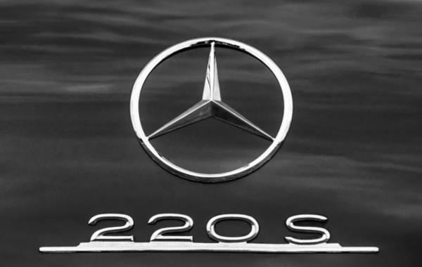 1958 Photograph - 1958 Mercedes-benz 220s Cabriolet Emblem by Jill Reger