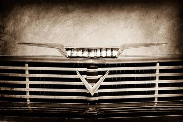 Photograph - 1958 Plymouth Belvedere Convertible Grille Emblem by Jill Reger