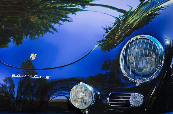 1958 Photograph - 1958 Porsche 356a Sunroof Coupe Hood Emblem by Jill Reger