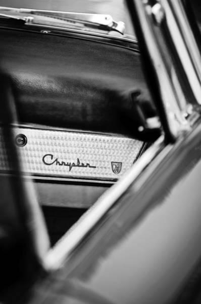 Photograph - 1959 Chrysler 300 Dashboard Emblem by Jill Reger